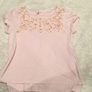 GAP Shirts & Tops - Pale pink flower tee